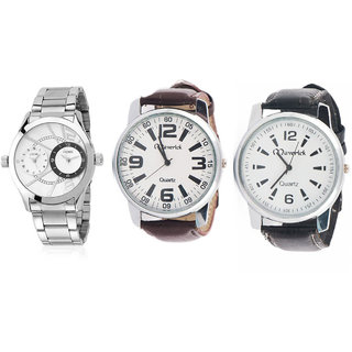 Velosity vl201 Silver Color Analog Watch + Two Leather Watches