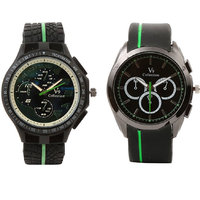 V9l Green Analog Watch + V9S Green Stylish Analog Watch For Boys, Men