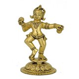 Redbag Lord Krishna Loves Ladoo - Brass Statue 4637