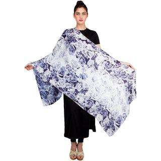 Blue Rose Print Shawl