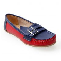 Catbird Women's Blue and Red Slip On Casual Shoes
