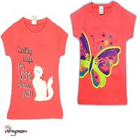 two Pink Ts hirts combo for girls