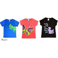 Three t shirts combo offer for Girls