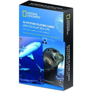 National Geographic 52 Picture Playing Cards - Spectacular Sea Life