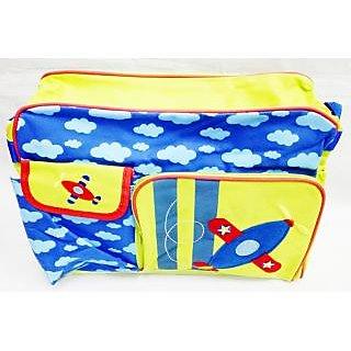 WonderKart Multi Purpose Plane Print Baby Diaper Shoulder Bag