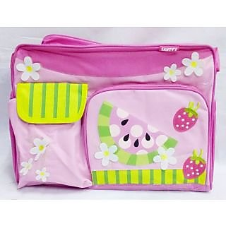 WonderKart Multi Purpose Pink Watermelon Baby Diaper Shoulder Bag