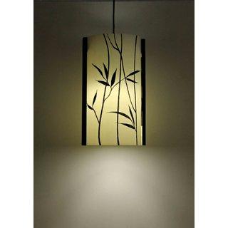 9 Gifts Bamboo Black, White Plastic Lantern