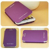 Original Samsung Galaxy Note 2 N7100 Cool Purple Flip Hard Back Book Cover Replace Case