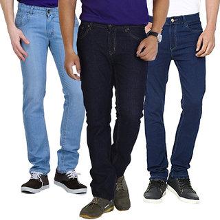 Stylox Men's Multicolor Slim Fit Jeans