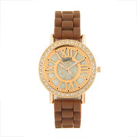 Fidato White Dial And Brown Strap Casual Watch FDWW25