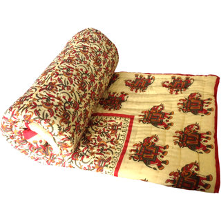 Shop Rajasthan 100 Cotton Jaipuri Lightweight Double Bed Quilt (Srl2165)