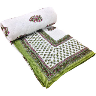 Shop Rajasthan 100 Cotton Jaipuri Lightweight Double Bed Quilt (Srl2180)