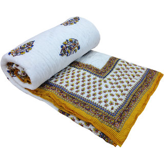 Shop Rajasthan 100 Cotton Jaipuri Lightweight Double Bed Quilt (Srl2181)
