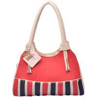 Red Striped Handbag