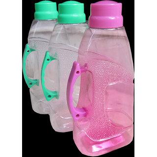 Set Of 3 Pcs. Stylish Bottles With Handle