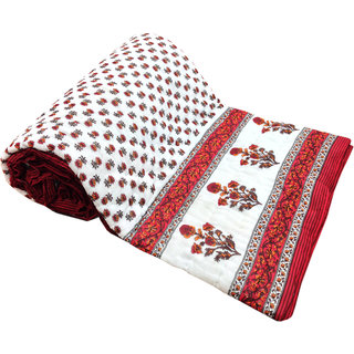 Shop Rajasthan 100 Cotton Jaipuri Lightweight Double Bed Quilt (Srl2174)