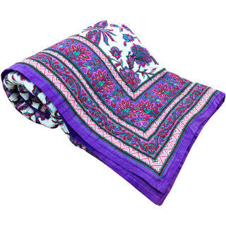 Shop Rajasthan 100 Cotton Jaipuri Lightweight Double Bed Quilt (Srl2175)