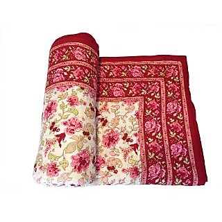 Shop Rajasthan 100 Cotton Jaipuri Lightweight Single Bed Quilt (Srm2071)