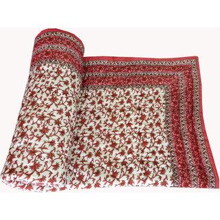 Shop Rajasthan 100 Cotton Jaipuri Lightweight Single Bed Quilt (Srm2073)