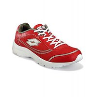 Lotto Men's Maroon Lace-Up Running Shoes