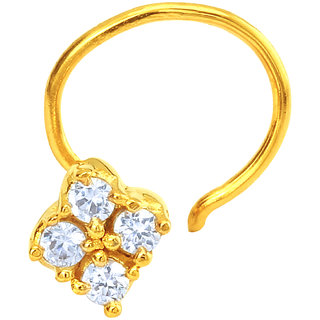 Mahi Gold Plated The Cluster Nosepin with CZ for Women NR1100144G