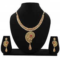 Zaveri Pearls Traditional Necklace Set-ZPFK1588