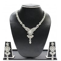Zaveri Pearls Designer Austrian Diamond Necklace Set-ZPFK1595