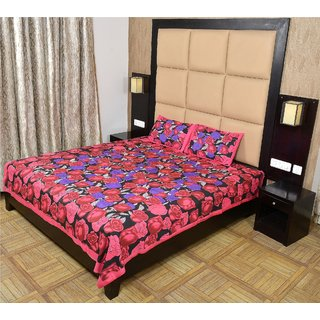 Shop Rajasthan 100 Cotton Printed Double Bed Sheet With 2 Pillow Covers - (Sra3059)
