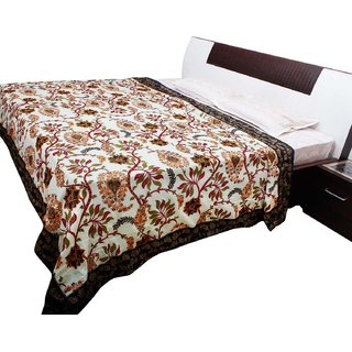 Halowishes Famous Jaipuri Gold Print Cotton Double Bed Duvet Dohar -502