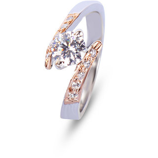 Zevrr Sterling Silver Ring made with SWAROCSKI ZIRCONIA (PZSR010290)