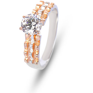 Zevrr Sterling Silver Ring made with SWAROCSKI ZIRCONIA (PZSR010291)