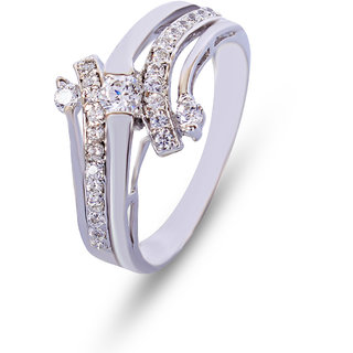 Zevrr Sterling Silver Ring made with SWAROCSKI ZIRCONIA (PZSR010308)