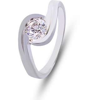 Zevrr Sterling Silver Ring made with SWAROCSKI ZIRCONIA (PZSR010324)