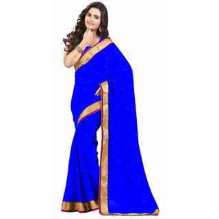 Fabulous Blue Chiffon Saree EBSFS19804C