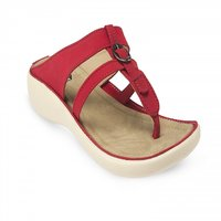 Repose Womens Red Slip On Flats