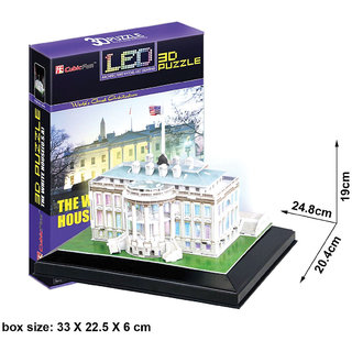 Cubicfun 3D Puzzle - Led White House
