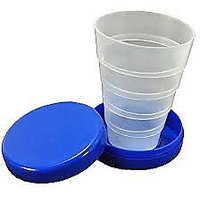 Folding Cups Set Of 2 Travel Cups For Drinking Water,Juice,Folding Glass-H6U29