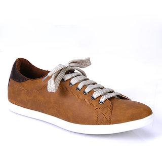 Franco Leone Tan Casual Shoes