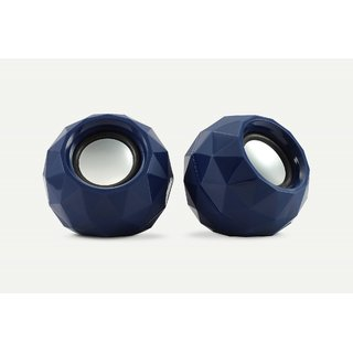 Zebronics 2.0 Multimedia Speaker Crystal Blue