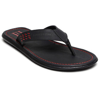 Franco Leone Black Slipper
