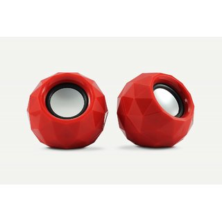 Zebronics 2.0 Multimedia Speaker Crystal Red