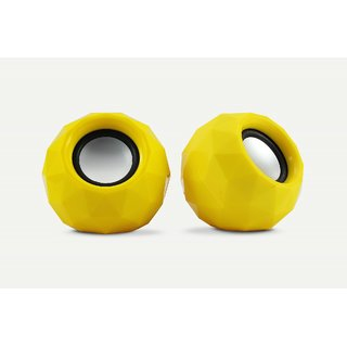 Zebronics 2.0 Multimedia Speaker Crystal Yellow