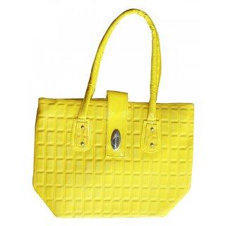 Akash Ganga  Yellow Stylish Hand bag (LHB24)