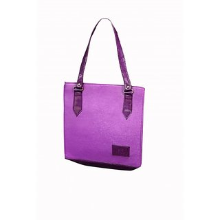 Akash Ganga Purple Beautiful Bag For Girls/Ladies (LHB39)