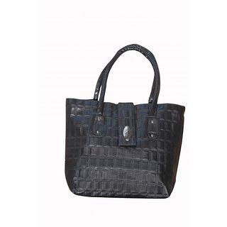 Akash Ganga Black Women Hand Bag (LHB60)