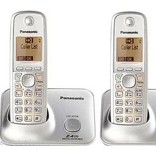 Panasonic KX-TG 3712SXN Dual Corldess Phone with Caller ID  Phonebook Facility