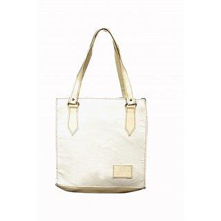Akash Ganga WHITE Hand Bag for Ladies n Girls (LHB63)