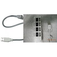 Combo Of 4 Port USB Hub Hi-Speed For LAPTOP And PC & 1 LED Light
