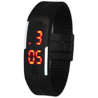 Rubber Magnet Led Digital Sport Watch - For Boys, Men, Girls, Women