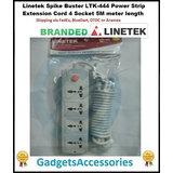 Spike Buster LTK-444 Power Strip Extension Cord 4 Socket 2M Meter Lengt